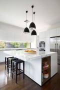 Kitchen benchtops - East Malvern Residence by LSA Architects