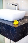 Caesarstone Vanilla Noir sink bench top