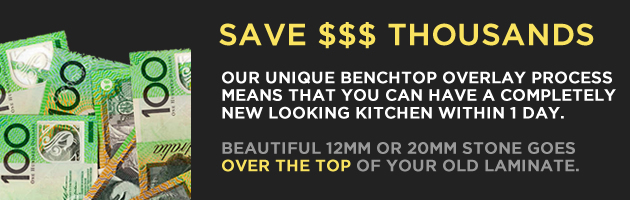 Save $$$$$ on a new kitchen with stone overlay